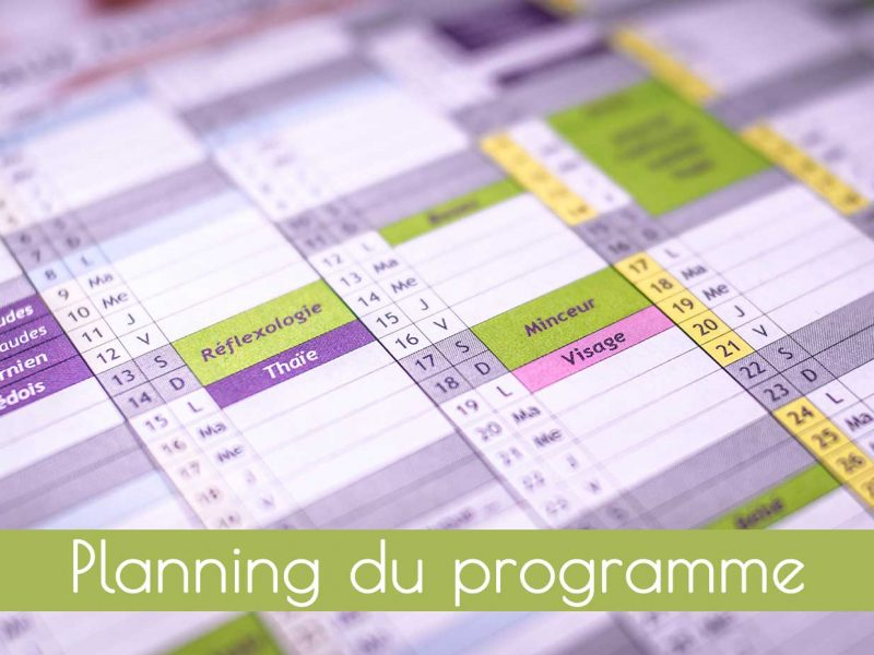 Planning complet du programme d'alimentation consciente